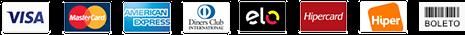 Agro2Business Bandeiras de cartão de crédito para pagamento